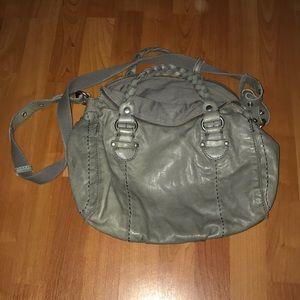 Lucky brand gray leather crossbody bag